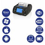 Citizen CMP-40L / mobilní / 112mm / Termotiskárna / 203dpi / USB / RS232 / Wi-Fi / Displej / černý (CMP40WECXL)