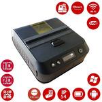 Cashino PTP-III / pokladní termotiskárna / mobilní / 80mm / 203dpi / WiFi/ USB / RS232 / Kožené pouzdro / černá (PTP-III WIFI)