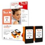 Peach PG-50 / PG-40 / PG-37 / alternativní cartridge bez tiskové hlavy / Twinpack / 2x22 ml / černá (312492)