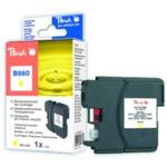 Peach LC-1100XL a LC-980XL alternativní cartridge pro Brother / DCP-385C, DCP-395CN / 7 ml / Žlutá (313446)
