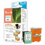 Peach 300XL alternativní cartridge / HP Deskjet D2560 / Starter-Pack 1+3 / 3x14 ml / Barevné (313735)