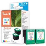 Peach 344 alternativní cartridge / pro HP Deskjet 6540 / Twin-Pack / 2x14 ml / Barevná (311997)