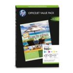 HP CG898AE set na brožury / originální cartridge / Officejet 940XL / + 100 ks 180 g/m2 (CG898AE)