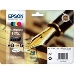 Epson T1636 originální cartridge 16XL / 12,9ml + 3x 6,5ml / WF-2010W, WF-2510WF / CMYK (C13T16364010)
