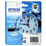 Epson DURABrite Ultra Ink 27XL Multipack / originální cartridge / 3 barvy / 31,2 ml / žlutá, azurová, purpurová (C13T27154010)