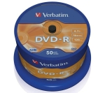 Verbatim DVD-R / 4,7 GB / 16x / Printable / 50ks cake (43744)
