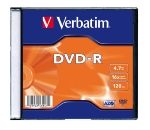 Verbatim DVD-R / 4,7 GB / 16x / 100ks slim pack (43547)