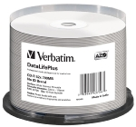 Verbatim CD-R DataLifePlus / 700MB / 52x / Wide Thermal Printable / no-ID / 50ks cake (43756)