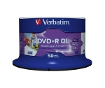 Verbatim DVD+R DL 8,5GB 8x, Printable, cakebox, 50ks (43703)