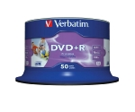 Verbatim DVD+R / 4,7GB / 16x / Wide Inkjet Printable / 50ks spindle (43651)