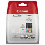 Canon CLI-551 originální cartridge / C / M / Y / BK / Multipack (6509B008)