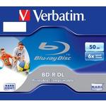 Verbatim BD-R, Dual Layer Printable, 50GB, jewel box, 43736, 6x, 1 ks, pro archivaci dat (43736xx)