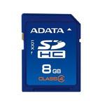 ADATA SDHC karta 8GB / Class 4 / R: 17MB/s / W: 5MB/s (ASDH8GCL4-R)