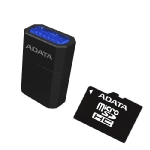 ADATA Micro SDHC karta 8GB + USB čtečka / Class 4 / R: 14MB/s / W: 5MB/s (AUSDH8GCL4-RM3BKBL)