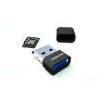ADATA Micro SDHC karta 32GB + USB čtečka / Class 4 / R: 14MB/s / W: 5MB/s (AUSDH32GCL4-RM3BKBL)