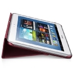 Samsung polohovací pouzdro EFC-1G2NRE / pro Galaxy Note 10.1 N8000, N8010 / Červené (EFC-1G2NRECSTD)