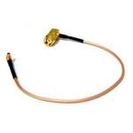 pigtail 25cm RG316 MMCX - RSMA male 90° úhlový (MMCX-RSM90)