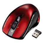 HAMA Mirano / laserová myš / 1.600dpi / bezdrátová / černo-červená (53877)