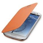 Samsung flipové pouzdro pro Samsung Galaxy S III mini (i8190) / Oranžové (EFC-1M7FOEGSTD)