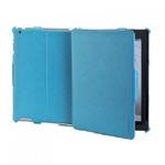 CELLY BOOKTAB ochranné pouzdro se stojánkem pro Apple iPad 4 z kolekce Ristretto, PU kůže, tyrkysové (CRISBIPA03)