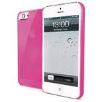 CELLY zadní ochranný kryt Gelskin pro iPhone 5, růžový (GELSKIN185P)