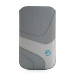 Maloperro pouzdro pro smartphone / Neo Nabuk / velikost XXL / šedo-bílá / výprodej (MPSNEOXXL002)