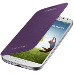 Samsung flipové pouzdro pro Samsung Galaxy S IV (i9505, i9506) / Purpurová (EF-FI950BVEGWW)