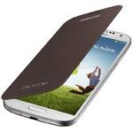 SAMSUNG flipové pouzdro pro SAMSUNG Galaxy S IV (i9505, i9506) / Hnědá (EF-FI950BAEGWW)