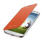 SAMSUNG flipové pouzdro pro SAMSUNG Galaxy S IV (i9505, i9506) / Oranžová (EF-FI950BOEGWW)