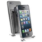 CellularLine CHROME zadní kryt pro Apple iPhone 5 / stříbrný + fólie se zrcadlovým efektem (CHRMIPHONE5DG)