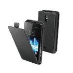 Made for Xperia flap pouzdro pro Sony Xperia J / PU kůže / slim / černé (SESLI0029)