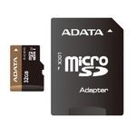 ADATA Premier Pro Micro SDHC karta 32GB + SD adaptér / UHS-I U1 Class 10 / R: 45MB/s / W: 40MB/s (AUSDH32GUI1-RA1)