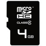 EMTEC micro SDHC karta 4GB / Class 4 / + adaptér SD (ECMSDM4GHC4)