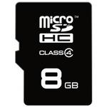 EMTEC micro SDHC karta 8GB / Class 4 / + adaptér SD (ECMSDM8GHC4)