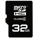 EMTEC micro SDHC karta 32GB / Class 4 / + adaptér SD (ECMSDM32GHC4)