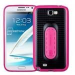 Momax i-Stand Pro / silikonový obal pro Samsung Galaxy Note II (N7100) / červená / výprodej (ISPSANOTE2RD)