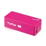 Genius Power Bank ECO-u261 napájecí zdroj / pro tablety, mobily / 2600 mAh / růžový (39800007104)