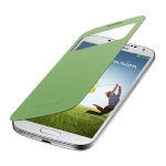 SAMSUNG flipové pouzdro S-view pro SAMSUNG Galaxy S 4 (i9505) / zelená (EF-CI950BGEGWW)