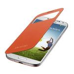 SAMSUNG flipové pouzdro S-view pro SAMSUNG Galaxy S 4 (i9505) / oranžová (EF-CI950BOEGWW)
