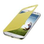 SAMSUNG flipové pouzdro S-view pro SAMSUNG Galaxy S 4 (i9505) / žlutá (EF-CI950BYEGWW)