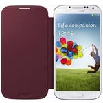 Samsung flipové pouzdro pro Samsung Galaxy S IV (i9505, i9506) / Červená (EF-FI950BREGWW)