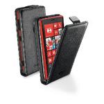 CellularLine Flap Essential pouzdro / pro Nokia Lumia 1520 / PU kůže / černá (FLAPESSENPHL1520BK)