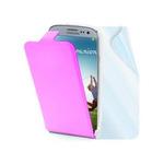CellularLine pouzdro typu kniha / pro Samsung Galaxy S 4 (i9505) / kůže / + fólie na displej / růžová (MUSLIM290P)