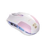 E-BLUE myš Cobra S / optická / drátová / USB / 6 tlačítek + kolečko / 1600 dpi / růžová (MMEBE28UGQ00) - E-Blue Cobra S EMS128PK