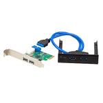 i-tec USB 3.0 Extension kit / zestaw PCI Express / 2x USB 3.0 + 2x interní USB 3.0 přes 1x 19-pinový (PCE22U3EXT)