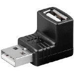 PremiumCord USB redukce A-A, Male/Female 90° (kur-17)