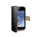 CELLY Wally pouzdro typu kniha pro Samsung Galaxy Trend a Trend Plus / PU kůže / černé (WALLY361)