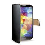 CELLY Wally pouzdro typu kniha pro Samsung Galaxy S5 / PU kůže / černá (WALLY390)