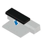 DELL Latitude E-Docking Spacer / pro 7000 series/ vymezovací podložka / černá (452-BBID)
