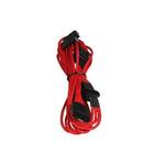 BitFenix Molex kabel / 4x SATA napajení 20cm / Textilní pouzdro / Červená/Černá (BFA-MSC-M4SA20RK-RP)